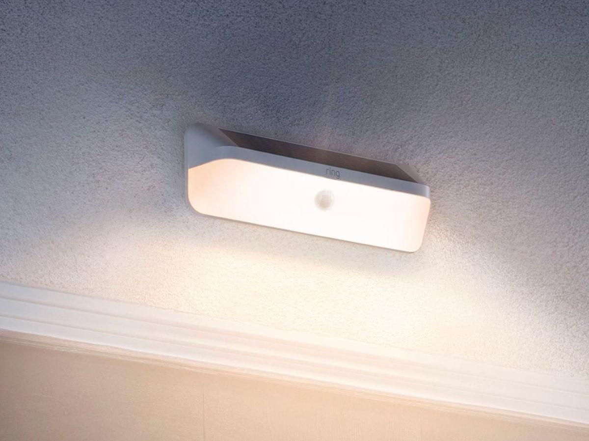 Ring Wall Light Solar lights 800 lumens of light when it detects motion thumbnail