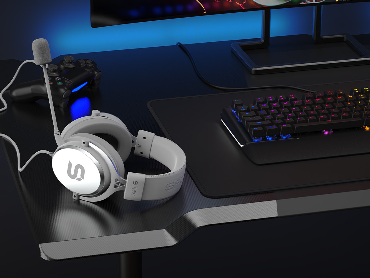 SPC Gear VIRO Plus Onyx White over-ear headset plays audio details with precision