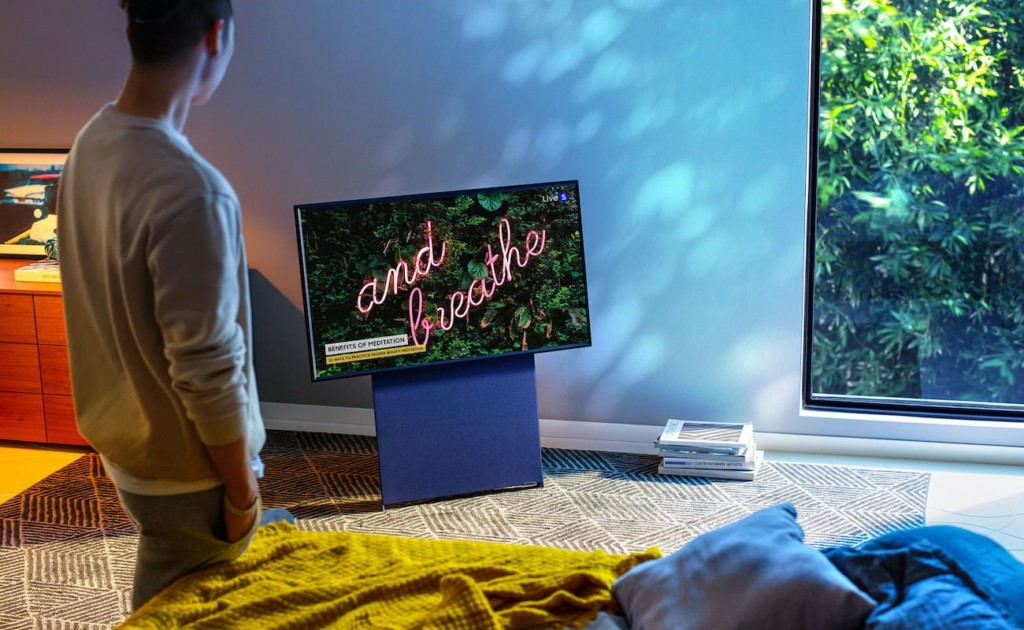 Home gadgets that are straight out of the future Samsung The Sero 2021 rotating TV