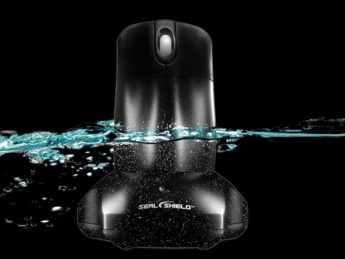Silver Storm Wireless Waterproof Mouse prevents microorganisms from degrading it