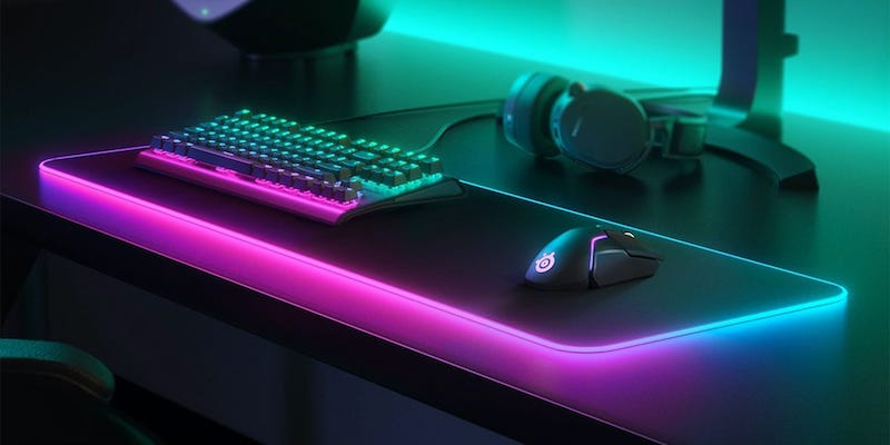 The coolest gadgets for the geeks in your life SteelSeries QcK Prism Cloth XL gamer mousepad
