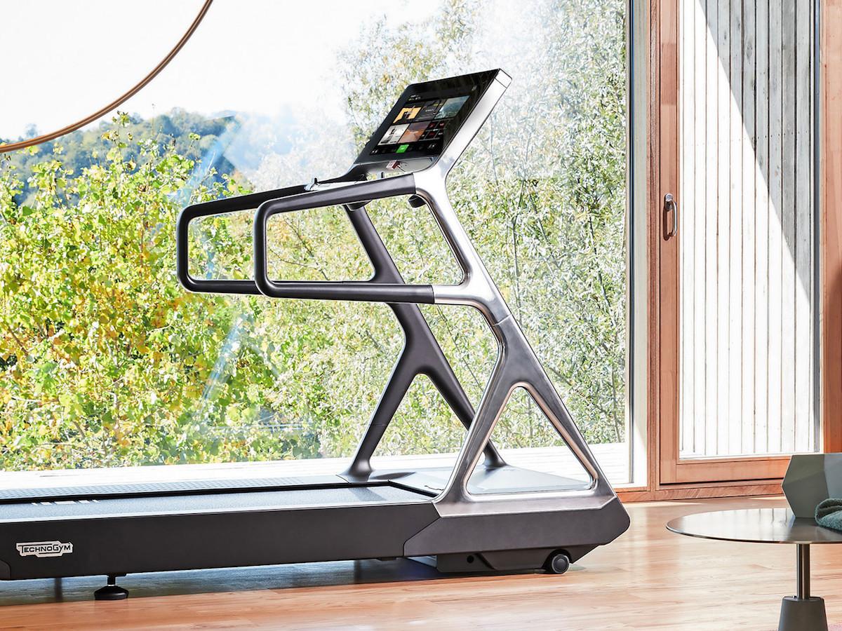 Technogym Run Personal hi-tech treadmill boasts a silent motor and virtual trainer