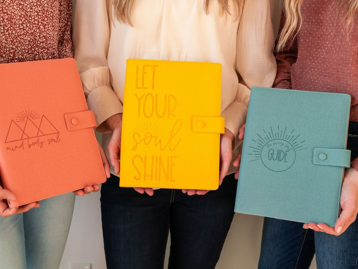 The Sunny Soul Guide daily journal gives you more joy, confidence, and courage