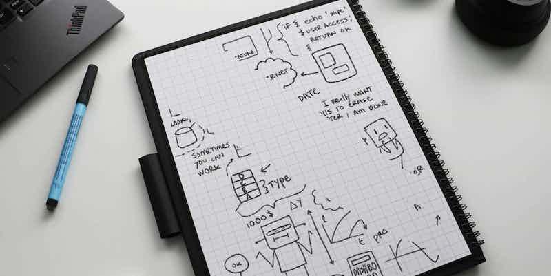 Wipebook Pro + smart reusable notebook