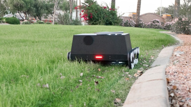Yardroid intelligent landscaping robot mows grass, waters plants, kills weeds, and more