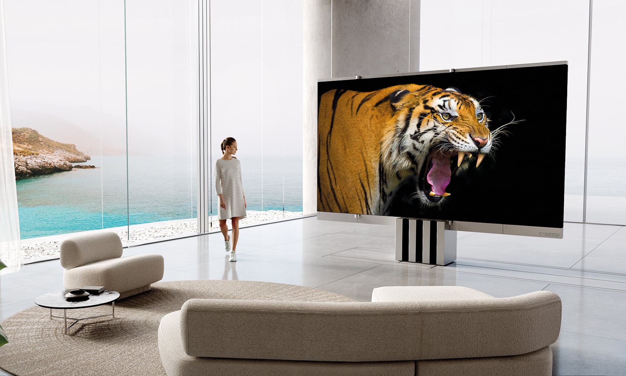 A TV that unfolds like an envelope—meet C SEED M1