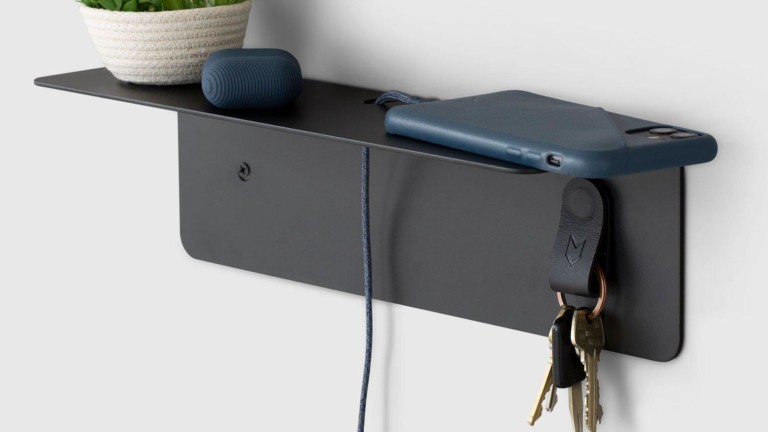 ARTIFOX Mini Wall Shelf holds small items such as pens, notebooks, phones, and more