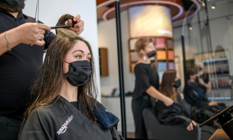 Amazon Salon—introducing the future of salons with AR and point-and-learn technology