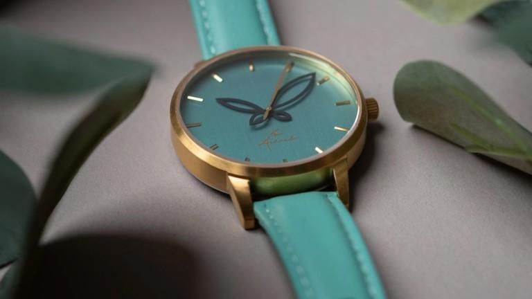 Arévalo Watches Folium minimalist women's timepiece has eye-catching leaf-like hands