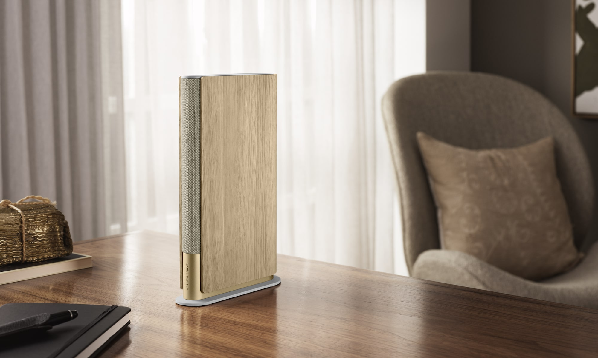 The new Bang & Olufsen speaker can actually fit into your bookshelf