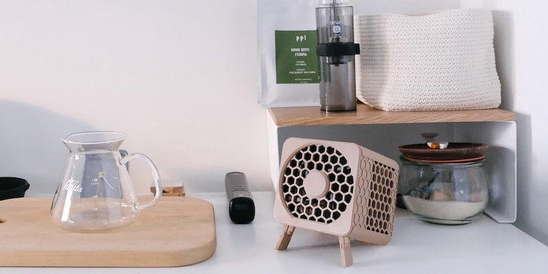 This compact air purifier lets you breathe clean air anywhere Bionic Cube portable filterless air purifier