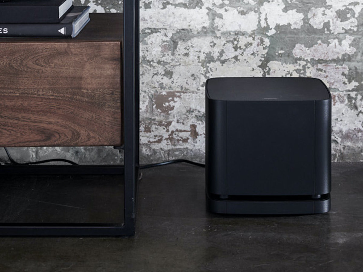 Bose Bass Module 500 wireless cube speaker pairs with your Bose Soundbar 500