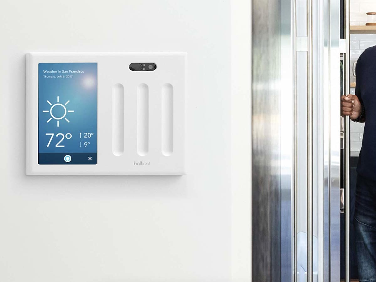 Brilliant 2-Switch Panel smart home controller gives you all-in-one control with an app