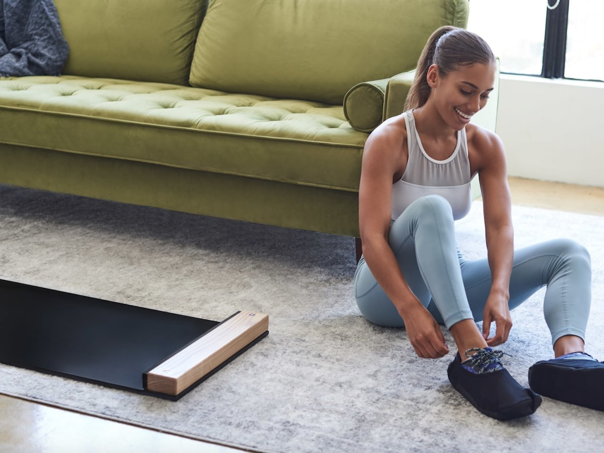 Brrrn at-home workout board is low impact on your joints & remains sturdy on the floor