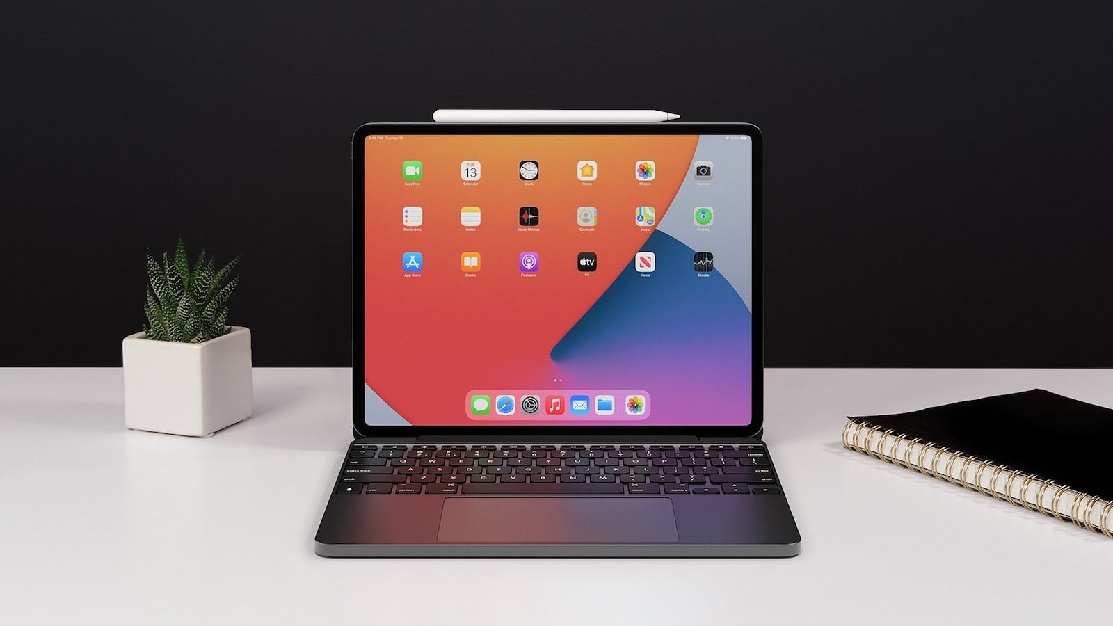 Brydge 12.9 MAX+ iPad Pro keyboard and trackpad creates a laptop-like experience