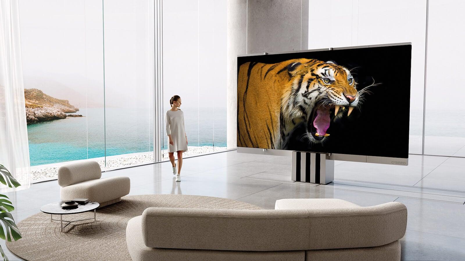 C SEED M1 indoor unfolding TV