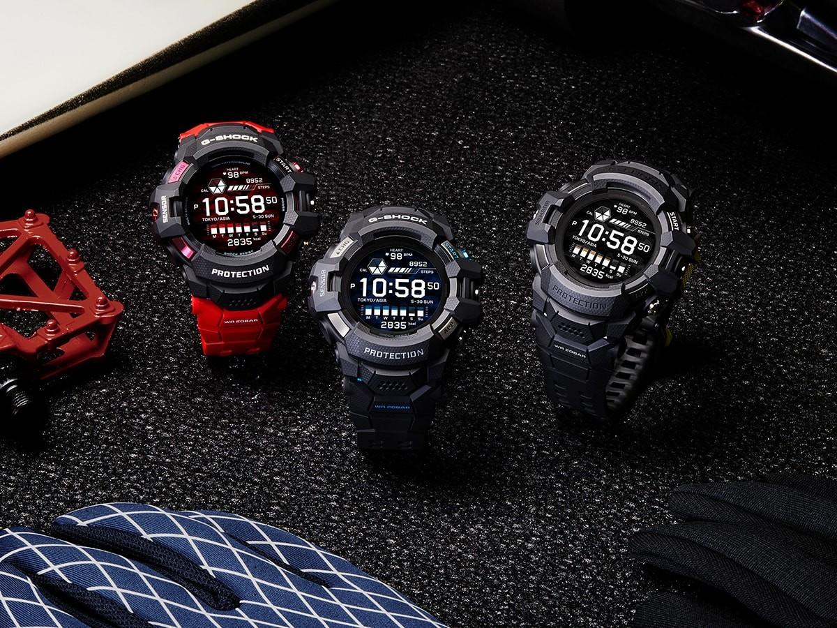 CASIO G-SHOCK G-SQUAD PRO GSW-H1000 watch series works with Google Wear OS