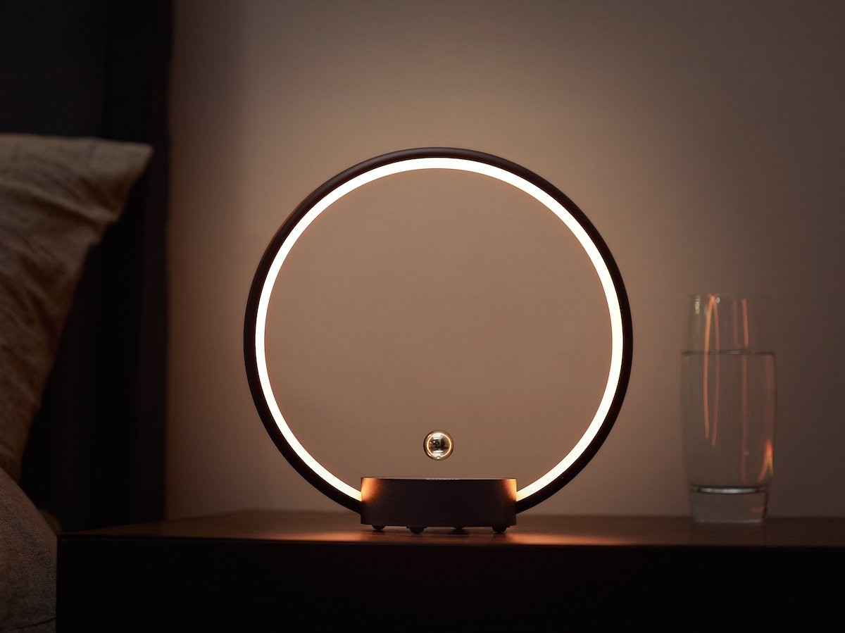 CIRCLO unique table lamp has a flying switch you touch to turn on and off thumbnail