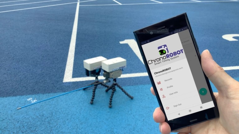 ChronoROBOT smart timing system uses sensors and a mobile app to detect times