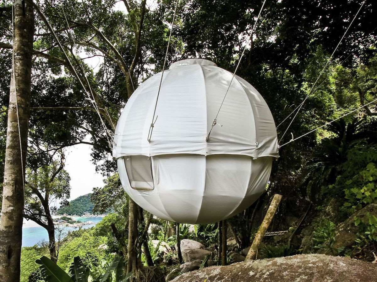 Cocoon Spherical Tree Bed boasts a 3-meter diameter & can fit a double bed