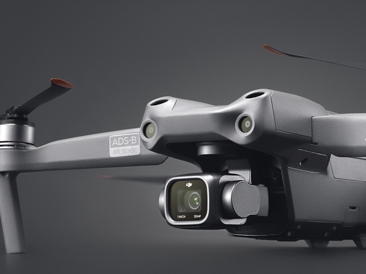 DJI Air 2S photography drone features an expansive 1″ image sensor & large 2.4 μm pixels