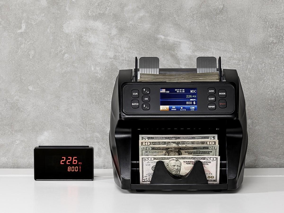 SPARK professional-grade mixed-denomination value counter has counterfeit detection