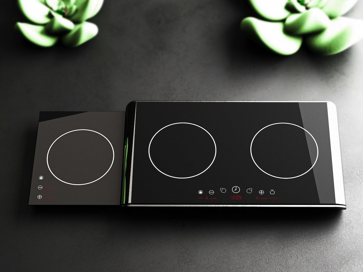 Fortido induction cooker features a lower-level cooktop that slides out like a drawer