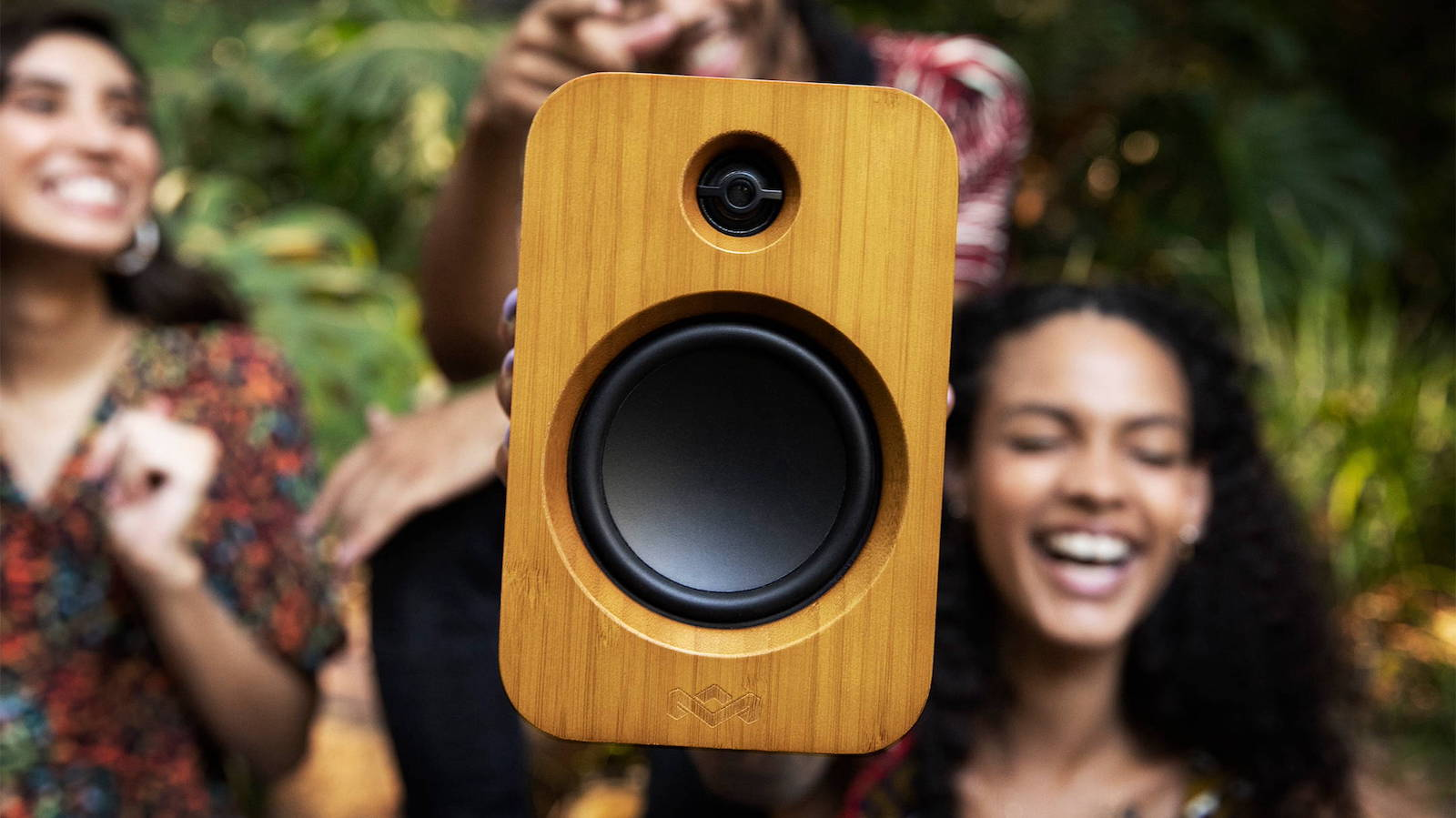 """House of Marley Get Together Duo Bluetooth speakers have 3.5"""" woofers and 1"""" tweeters"""