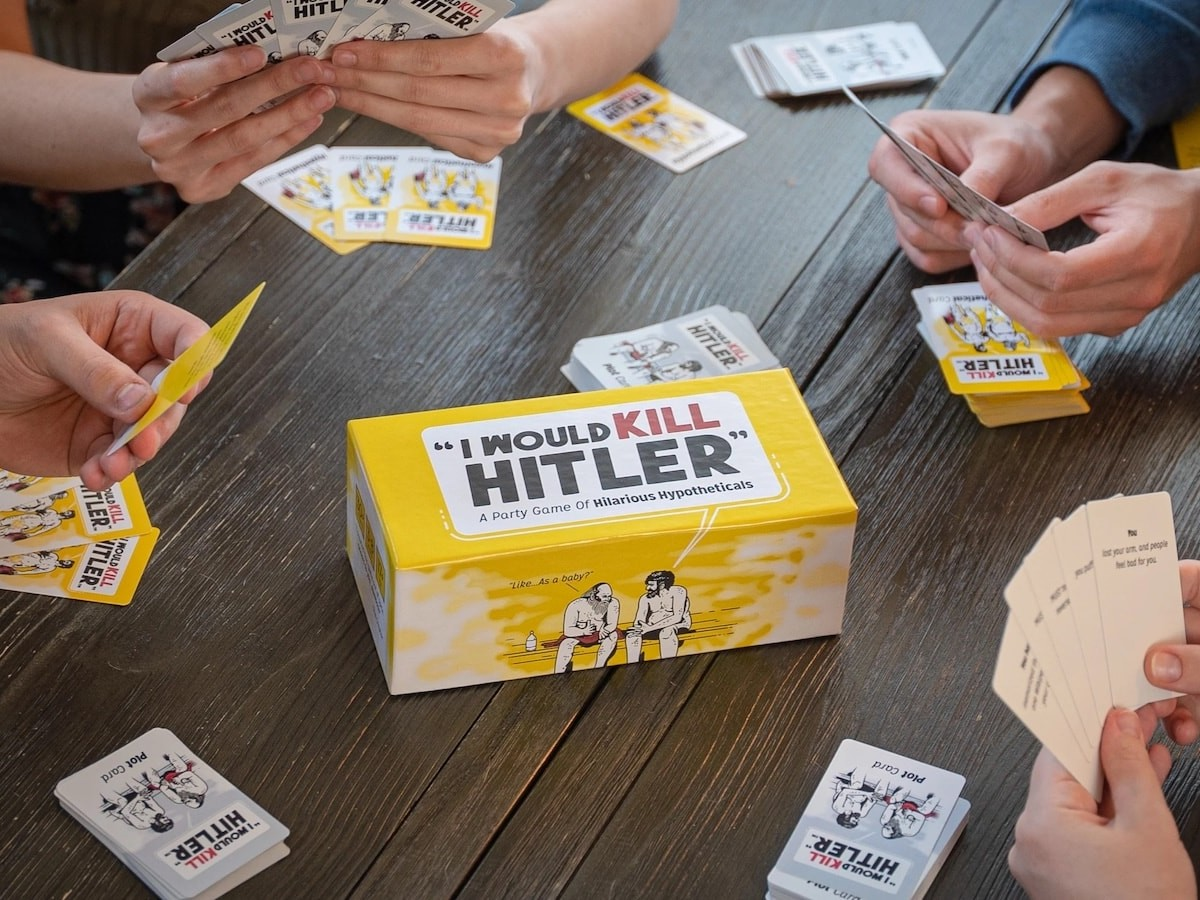 """I Would Kill Hitler"" party card game has you answer the question, ""What Would You Do?"""