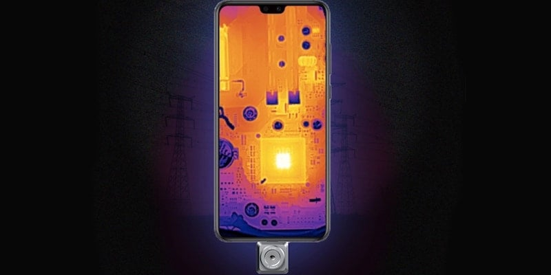IThis high-tech infrared smartphone camera helps with home maintenance nfiRay T2L thermal imaging smartphone camera