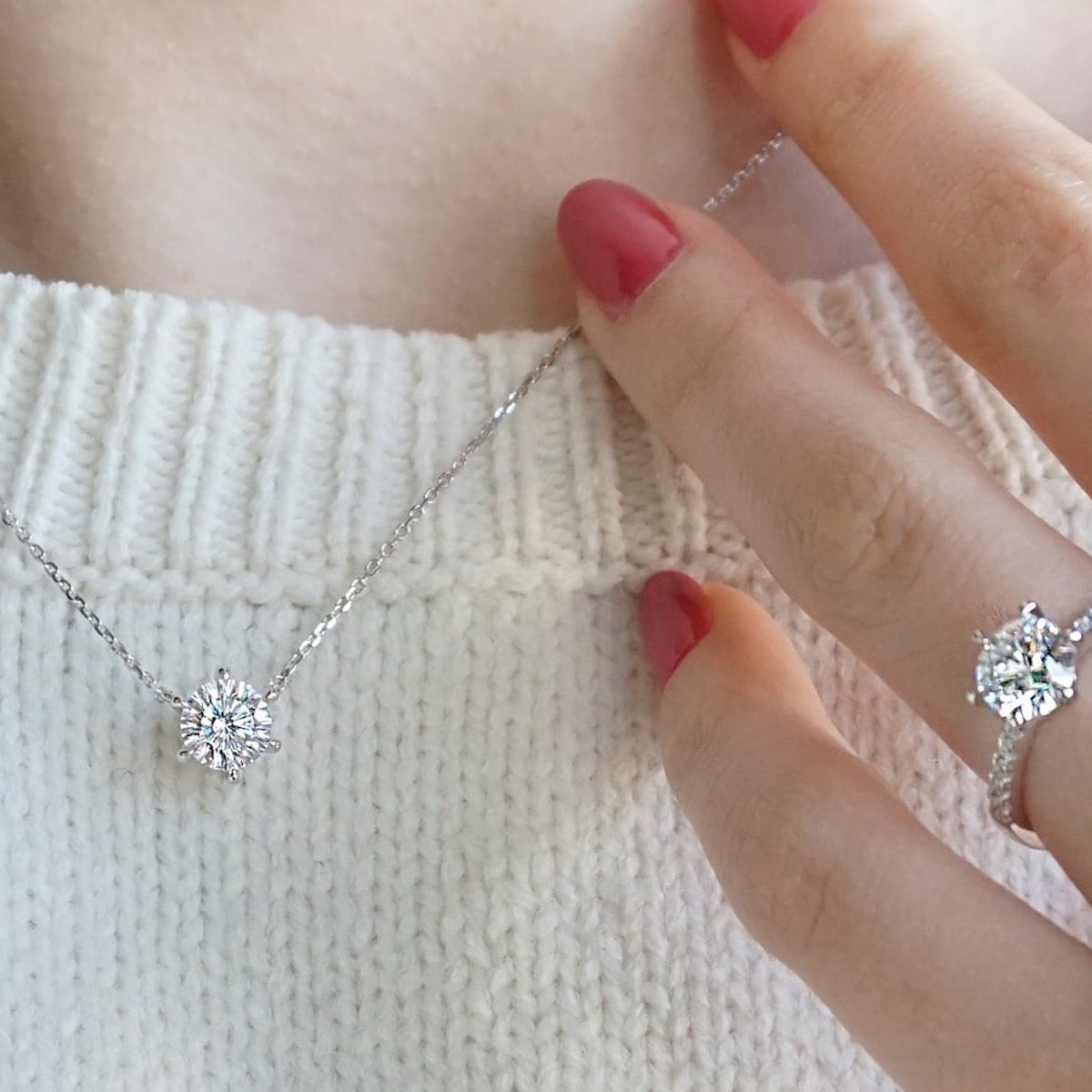 This diamond simulant jewelry sparkles  just like the real thing thumbnail