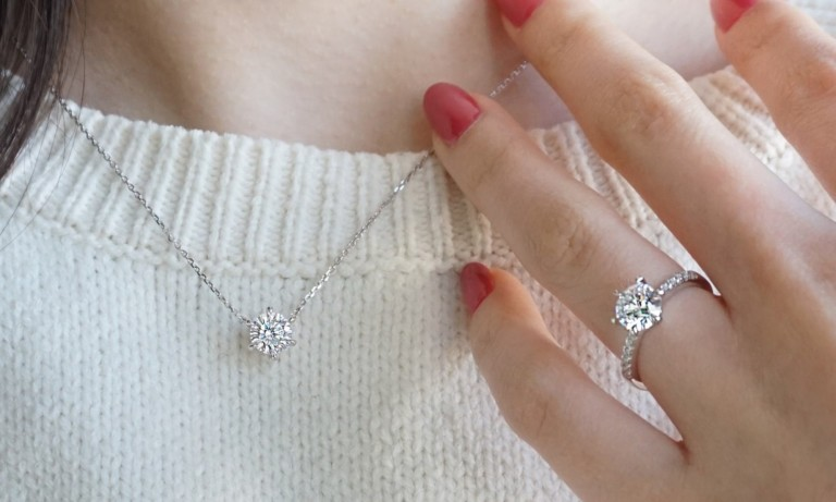 This diamond-simulating jewelry sparkles  just like the real thing