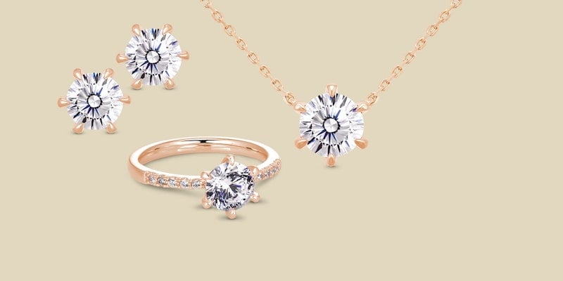 This diamond simulant jewelry sparkles just like the real thing J.Rosea simulated diamond jewelry collection