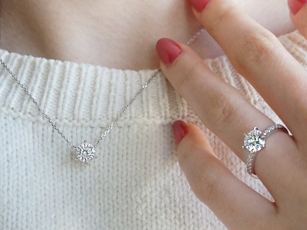J.Rosea simulated diamond jewelry collection is cut 109 times by a master craftsman