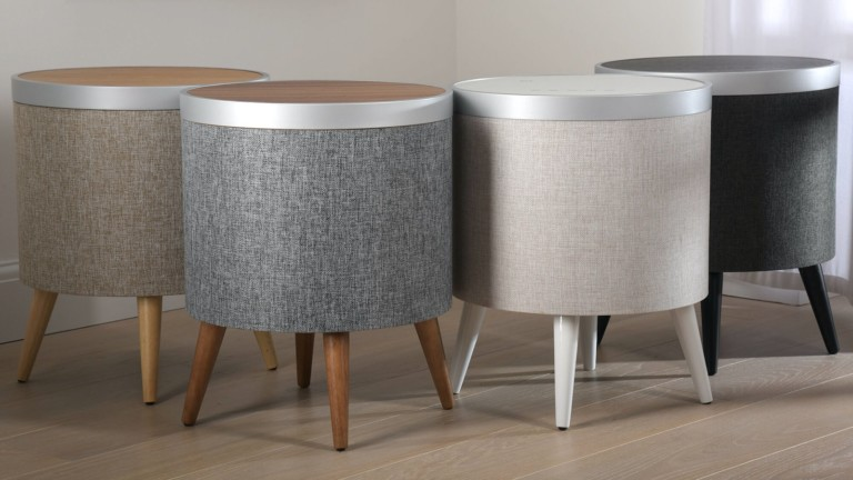 Koble Zain Smart Side Table has a built-in speaker and subwoofer