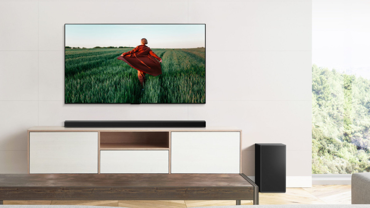 LG's 2021 soundbar lineup adjusts the audio settings based on the content you're watching