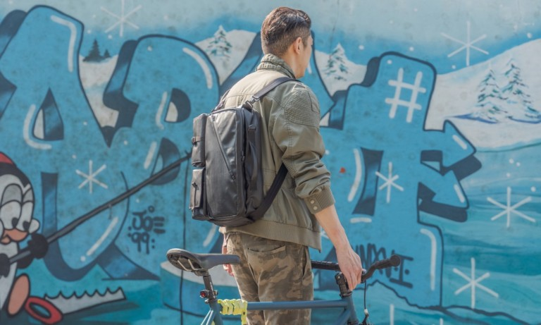 This super functional backpack gives you 8 different styles