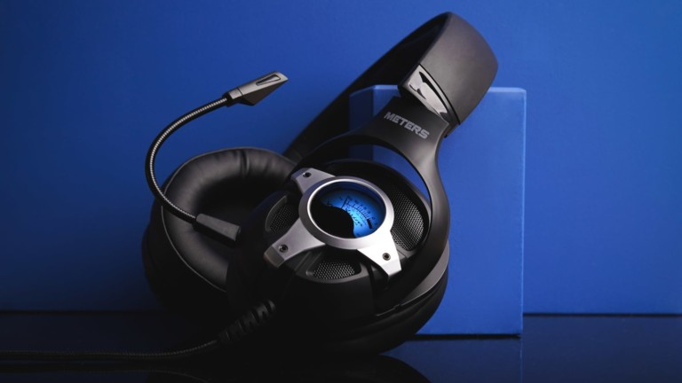 Meters Music Level Up gaming headphones boast HD 7.1 surround sound for rich, deep audio