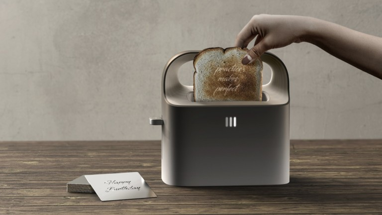 Party Hoaster imprinting toaster helps you celebrate intimate events