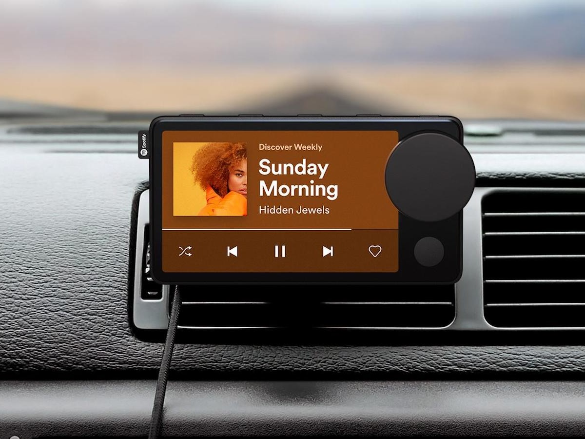 Spotify Car Thing smart music player responds to voice control to play music, news, & more