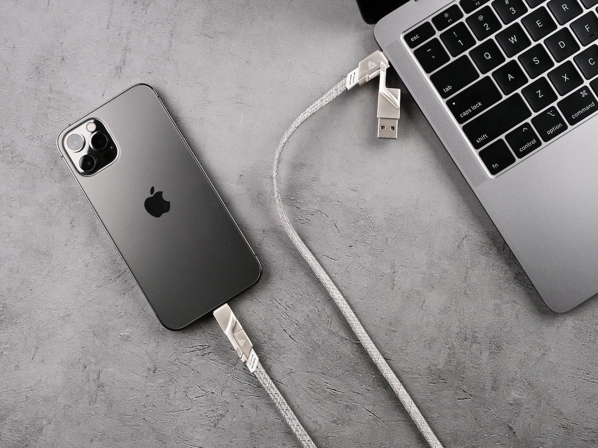 Steelix all-in-one cable delivers 480 Mbps data transfers and 100 W of power