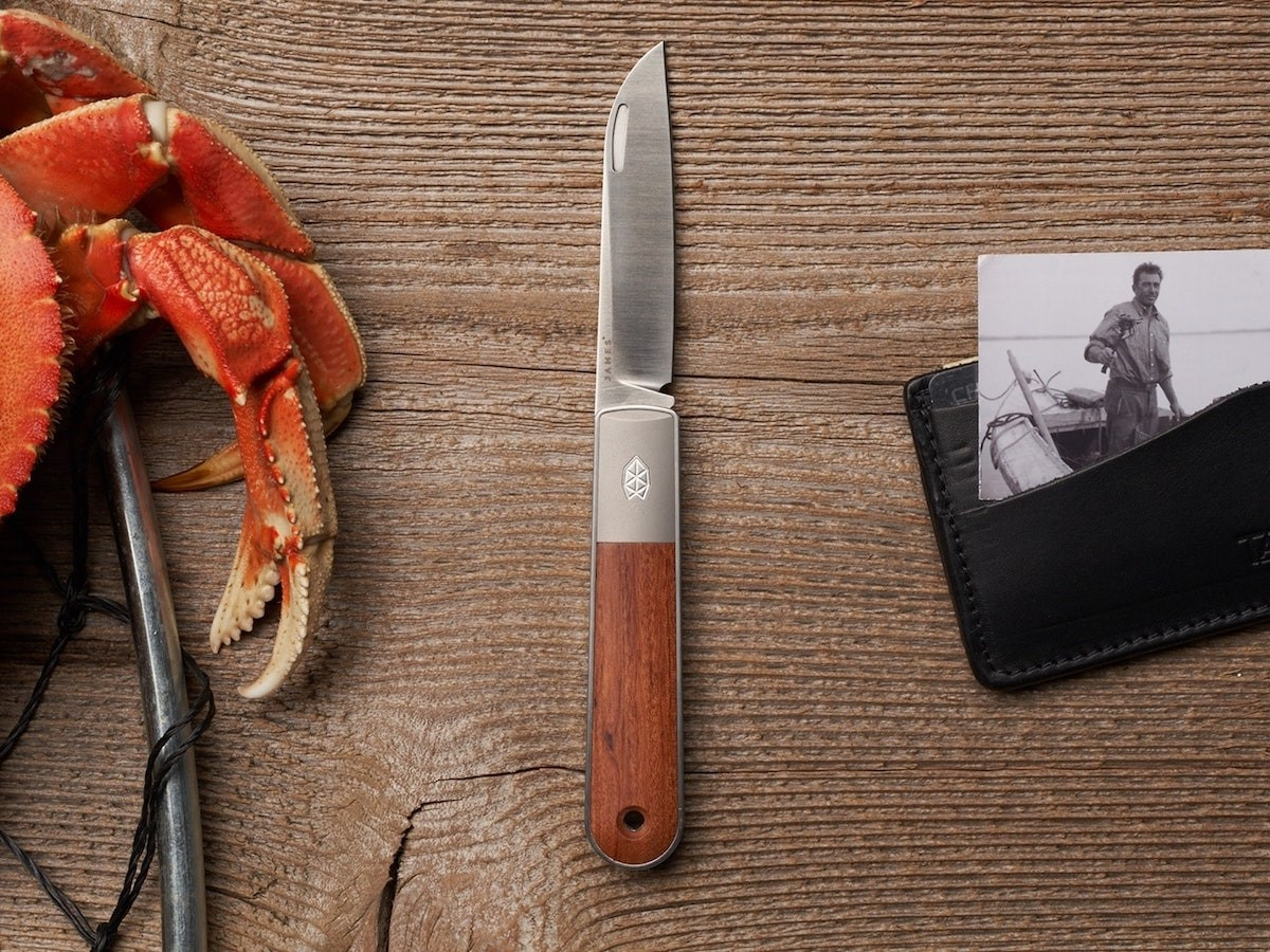 The James Brand The Wayland stainless steel EDC knife features a non-locking slip joint thumbnail