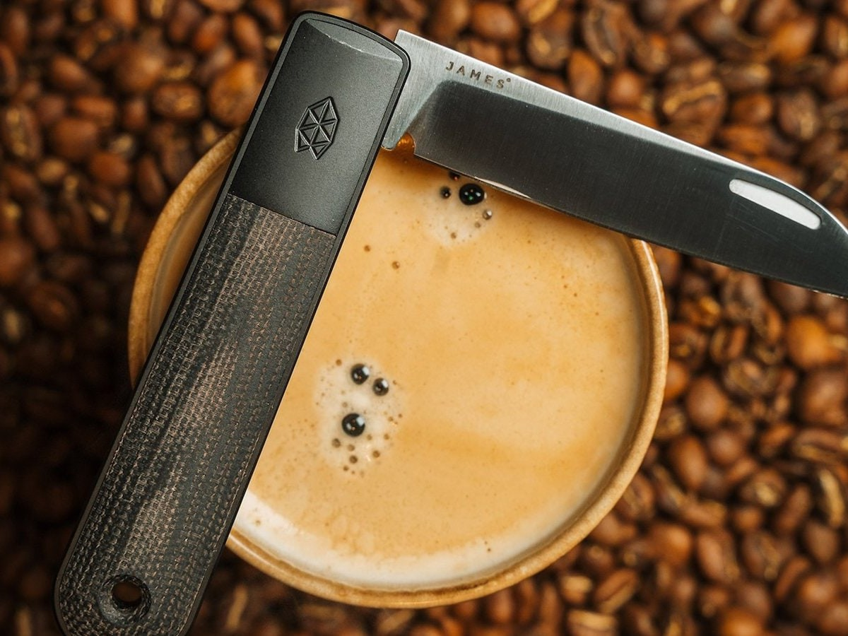 The James Brand The Wayland stainless steel EDC knife features a nonlocking slip joint
