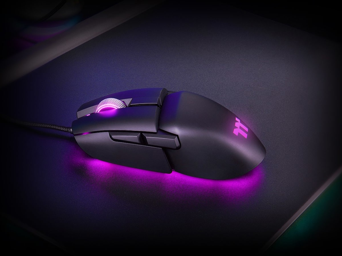 Thermaltake Argent M5 RBG gaming mouse features a PIXART PMW-3389 optical sensor