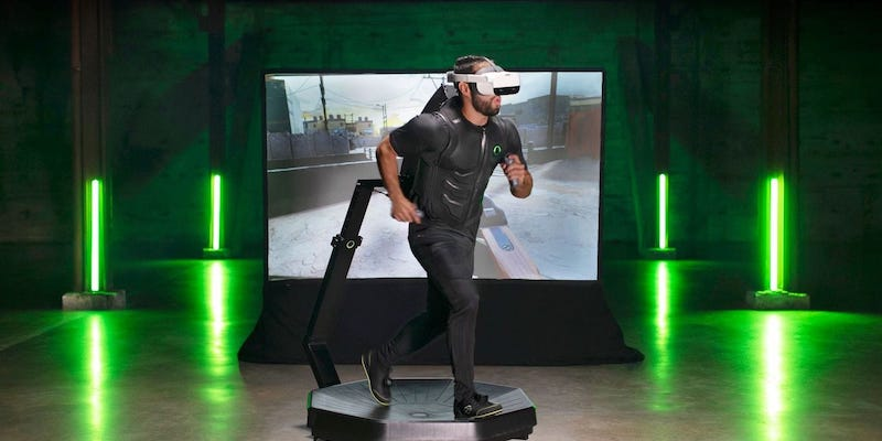 Never-seen-before workout gadgets and gear Virtuix Omni One VR treadmill
