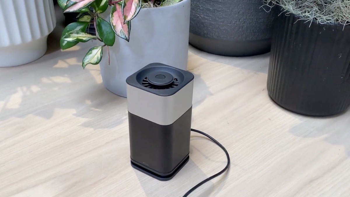 This high-tech purifier sanitizes the air in an eco-friendly, quiet way