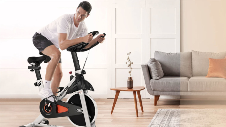 YOSUDA YB001 indoor cycling bike lets cyclists exceed preset limits