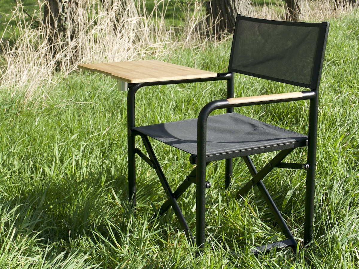 chAIR foldable seat & table gives you the freedom to work anywhere