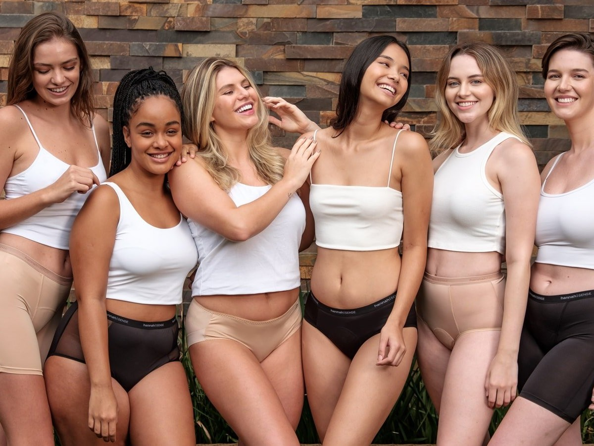 hannah⁝SENSE organic cotton period underwear comes in several leakproof styles