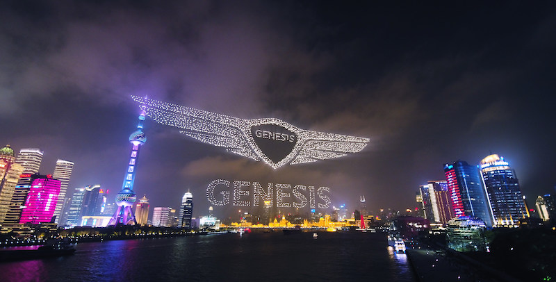 3281 Drones in the sky—a new world record from Genesis